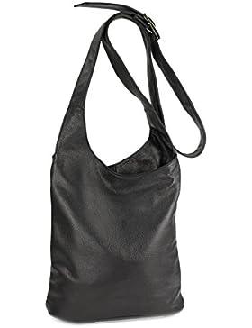 BELLI ital. Umhängetasche Cross Over Bag Damen Ledertasche Handtasche - Farbauswahl - 24x28x8 cm (B x H x T)
