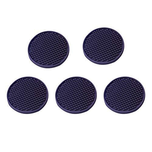 Hemoton 5 Stücke Runde rutschfeste Coaster Wärmedämmung Tisch Untersetzer Tasse Weinglas Tischset für Home Restaurant Büro (10x10 cm)