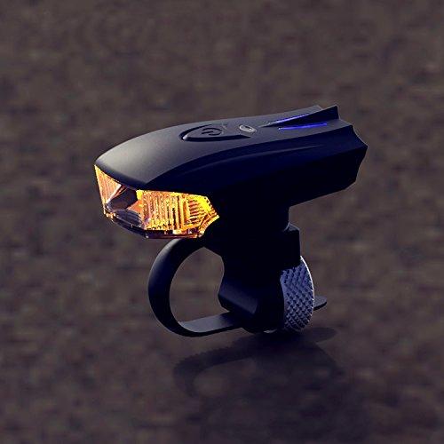 MaMaison007 Deutscher Standard Smart Sensor Warnung leichten Schock Sensor LED vorne Lampe USB aufladen Nacht Reiten