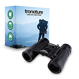 tronature ® Minifernglas – kompaktes und leichtes Fernglas [8x21] - geeignet für Kinder und Erwachsene - mit Hardcasetasche – inklusive Tragegurt, Karabiner und Putztuch