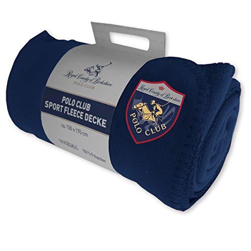 Royal County of Berkshire Polo Club Sport Fleece Decke (Blau, 130 x 170 cm) - Fleece Polo