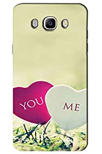 AMAN Me & You 3D Back Cover for Samsung Galaxy J7 2016