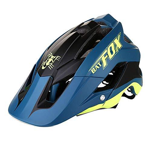 iBaste-Top Casco Bici,Adulto Sicurezz Cascos da Ciclismo con Visiera Leggero Caschi di MTB per Regolabile Taglia 56-62cm, 362g Ultra-Light