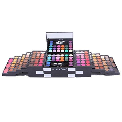 Make up Vovotrade 1 Set Make Up Materie von 144 Farbe Lidschatten 3 Farbe Blush 3 Farbe Augenbrauen Pulver