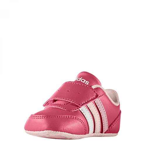 adidas V Jog Crib, chaussures premiers pas mixte bébé Multicolore (Supros / Ftwbla / Roshel)
