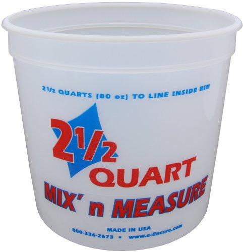 Encore Plastics 61086 Mix 'N Measure Plastic Container, 2.5-Quart 2.5 Quart Mix