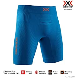 X-Bionic Invent Run Speed Shorts, Hombre, Teal Blue/kurkuma Orange, S