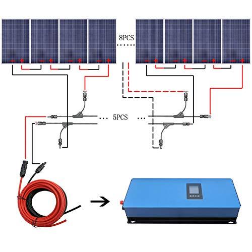 Características El panel solar de 120 W es el componente clave de un sistema cuando se usa el sistema de corbata de rejilla solar. Estos paneles son relativamente compactos y son muy fáciles de montar. El inversor de corriente de 2000 W es un inverso...