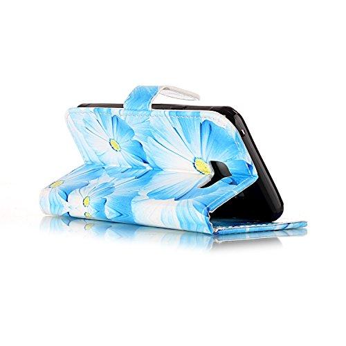 Samsung Galaxy A3 2016 Custoida in Pelle Portafoglio,Samsung Galaxy A3 2016 Cover Pu Wallet,KunyFond Lusso Moda Marmo Dipinto Leather Flip Protective Cover con Bella Modello Cover Custodia per Samsung orchidea