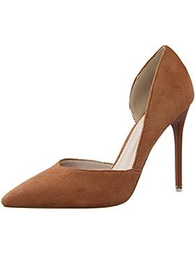 D'orsay Tacchi alti Donna Punta punta Scarpe con tacco Elegante Stiletto Vestito Scarpe con tacco