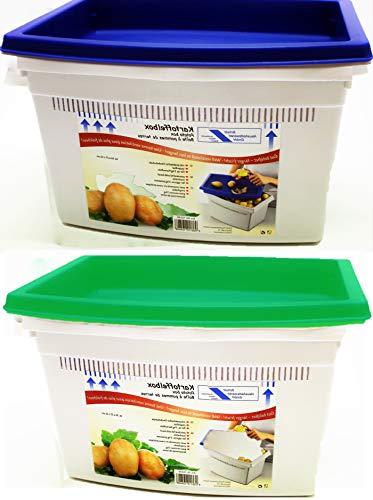 """Kartoffelbox mit praktischer Deckelschale \""""Super Idee\"""""""
