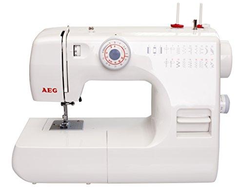 Silva-Homeline AEG Freiarm Nähmaschine mit 22 Nähprogrammen, 85 Watt, Kunststoff, weiß, 38 x 20 x 33 cm