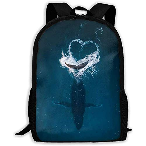 Toby Robeson Zaino Scuola Grande Balena sotto Il Mare Bookbag Borsa da Viaggio Casual per Ragazze Adolescenti