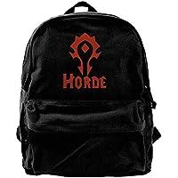 World of Warcraft Horde Symbol Logo Canvas Laptop Bag/Shoulder Bag/School Backpack