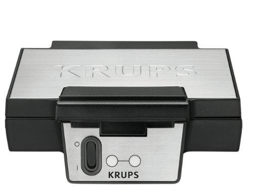 Image of Krups FDK 251 Waffeleisen, 850 Watt für Belgische Waffeln, schwarz - edelstahl