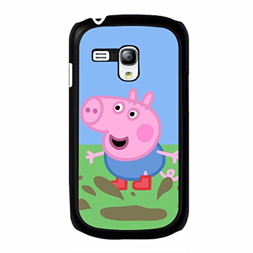Fashion Lovely Cartoon Peppa Pig Phone Case Cover for Coque Samsung Galaxy S3 Mini Peppa Pig Stylish,Cas De Téléphone