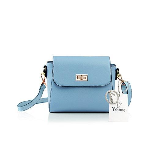 Borsa a tracolla retro Yoome Borsa a tracolla in mini borsa a tracolla Borsa per cellulari Borse piccole per regali - Navy L.Blue