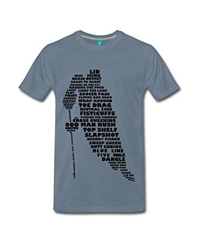 Spreadshirt Eishockey Terminologie Ice Hockey Begriffe Männer Premium T-Shirt, XXL, Blaugrau