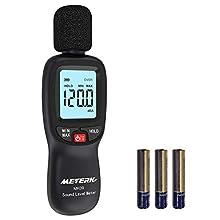 ☛☛☛ Questo misuratore di livello digitale è dotato di ampio campo di misura (30-130 dB). È portatile e facile da usare come uno strumento pratico per il controllo della qualità del suono in fabbrica, ufficio, casa, scuola e cantiere.  ❀❀❀ Caratterist...