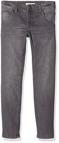 NAME IT Jungen Jeanshose Nitted Slim Dnm Pant Nmt Noos, Grau (Dark Grey Denim), 116