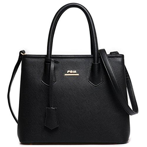 Borsa A Tracolla Tote Bag Donna Elegante Borsa Shopper Borsa A Tracolla In Pelle PU Borsa A Mano Borsa Donna Black