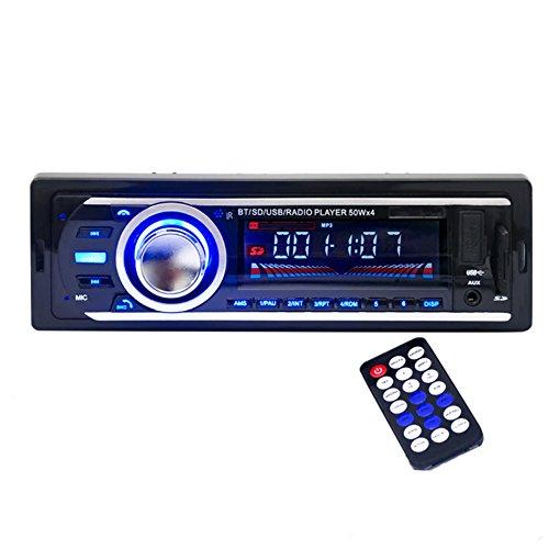 Kingtoys®1 DIN MP3-Autoradio mit Bluetooth Fernbedienung Freisprechanlage für ISO Android Smartphone Control Funktion(Bluetooth,4x 60Watt,USB,Aux-Eingang,SD-Speicher) (HP-2126 Schwarz)