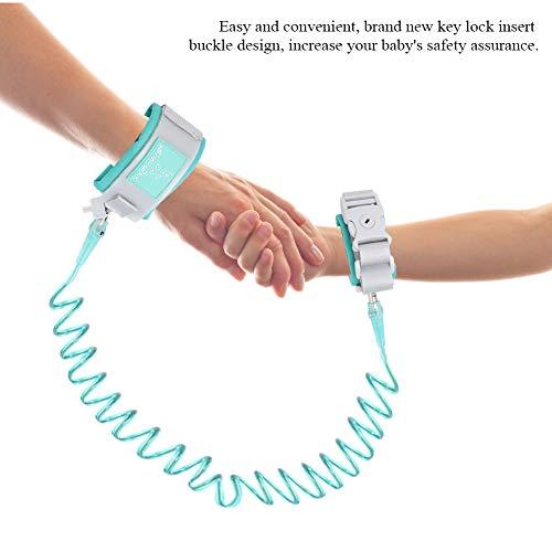 Anti Verlorene Handgelenk Gürtel,Baby Kinder Safty Anti Lost Walking Hand Gürtel Handgelenk Link Bungee Leine Sicherheit Kleinkind Harness mit Neustem Schlüsselschlossdesign,2M (Grün)