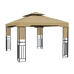 paramondo deluxe gartenpavillon wasserdicht 4 x 3m beige. Black Bedroom Furniture Sets. Home Design Ideas