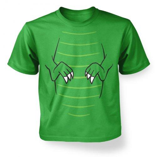 T-Rex Kostüm Kinder T-Shirt Gr. Small, Grün - Irish Green