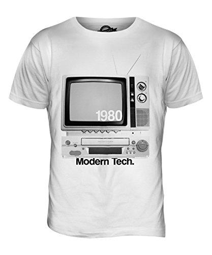 CandyMix Fernsehen Retro Herren T Shirt Weiß