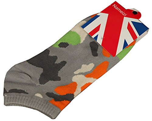 Lot de 2 Flag chaussettes en coton chaussettes pour hommes Blanc Gris foncé
