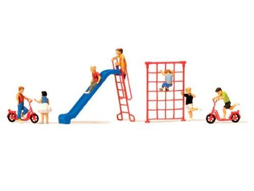 Preisvergleich Produktbild Figuren Spielende Kinder mit Zubehör, Modellauto, Fertigmodell, Preiser 1:87