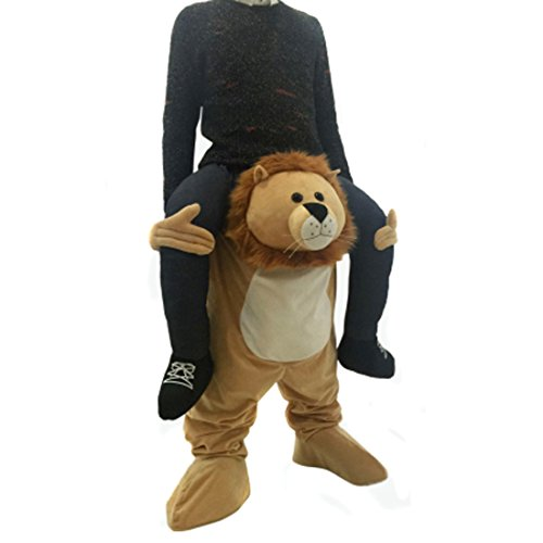 (Partiss Tierkostueme Jumpsuits Halloween erwachsene Partei-Kleid Geburtstags-Geschenk Erwachsene Lustige Kleid, One Size 218lion)