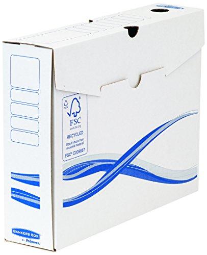 Bankers Box Basic Archivschachtel (A4+, 80mm) 25 Stück weiß/blau