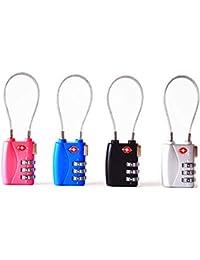 Cerraduras de combinación de 3&4 dígitos de JYHY® TSA, candados resistentes y de alta seguridad, para equipaje, maletas, bolsos de viaje y casilleros de gimnasio,paquete de 2