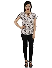 Fashion Parakeet | Tie UP Short Sleeves | Animal Print | V-Neck | Tunics for Women Western Wear