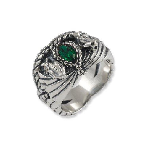 Herr der Ringe Schmuck by Schumann Design Barahirs Aragon Ring 925 Sterling Silber Rg 60 3002-060 (Aragorn Ring)