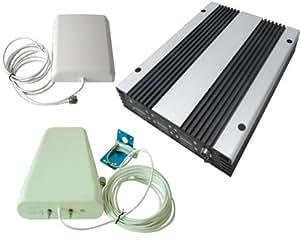 Phonetone:tri-bande 900/1800/2100Mhz gsm dcs wcdma amplificateur de signal de téléphone cellulaire répéteur booster antenne kit