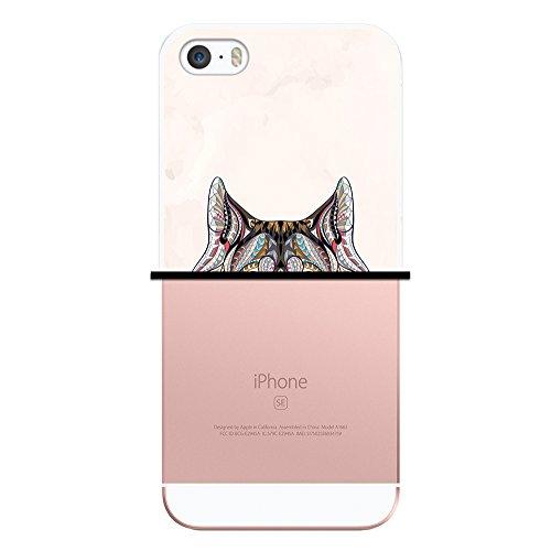 iPhone SE iPhone 5 5S Hülle, WoowCase Handyhülle Silikon für [ iPhone SE iPhone 5 5S ] Ethnischer Löwe Handytasche Handy Cover Case Schutzhülle Flexible TPU - Transparent Housse Gel iPhone SE iPhone 5 5S Transparent D0247