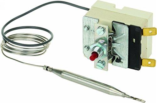 Thermostat: 55.13549.010 CORSAIR, LINCAT, MOFFAT, PARRY: High Limit Thermostat: Einpoliger Limiter 230°C Sensor 6 mm x 77 mm, Kapillarrohr: 670 mm EGO 55.13549.010 CORSAIR LINCAT DF4, J5, J10, LSF, LDF, LDF2: MOFFAT PARRY (Thermostat Limiter)