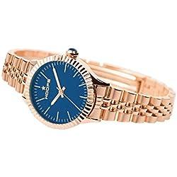 Uhr Damen Luxury Gold Blau Dark lackiert 2560lga-12-Hoops