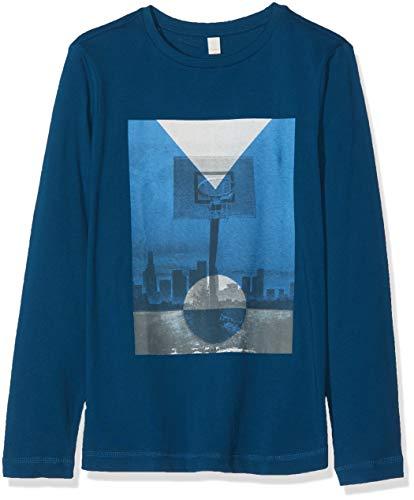 ESPRIT KIDS Jungen T-Shirt Tee for Boy, Blau (Dark Ocean Blue 482), 152 (Herstellergröße: M)