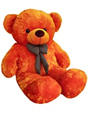 Zitto 3 Feet Huggable Teddy Bear With Neck Bow, Brown