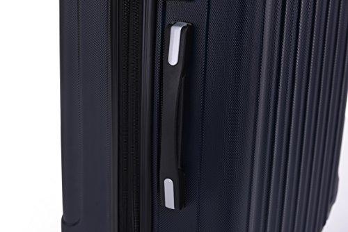 BEIBYE TSA Schloß, Zwillingsrollen, Dehnungsfuge, Hartschale Trolley Koffer Kofferset Reisekoffer Gepäckset (Dunkelblau) - 6
