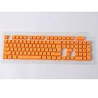 Yeshi Doubleshot PBT Spacebar 104 Keycap Backlight for Cherry MX Mechanical Keyboard (Orange)