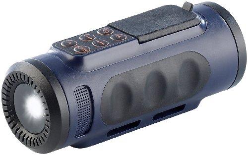 Lunartec 4in1-Outdoor-Genie mit Radio, MP3-Player, Taschenlampe & Lautsprecher