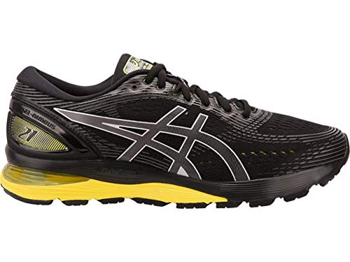 ASICS - Herren Gel-Nimbus 21 Schuhe, 48 EU, Black/Neon Spark