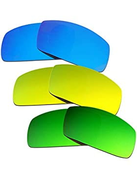 Hkuco Plus Mens Replacement Lenses For Oakley Canteen (2006) Blue/24K Gold/Emerald Green Sunglasses