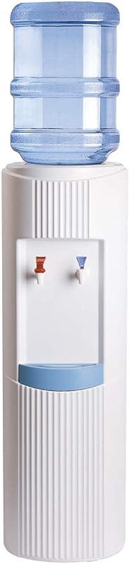 Crystal Mountain Water Dispenser, Hot & Cold, White, Gleg2Whw2C