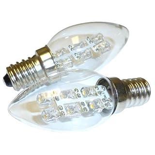 ALFA Beleuchtung LED 0,5 Watt (5 W), 15 Lumen C7 Night Leuchtmittel 2900 K weichen, weißen Licht, E12 Basis, 2er Pack